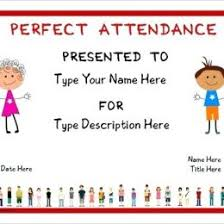 free perfect attendance certificate best photos of perfect attendance certificate template word