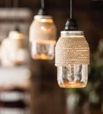 rope mason jar lights. Mason Jar Lights - Rope Wrapped DIY Ideas With Jars For