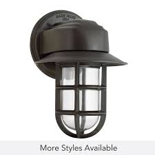 streamline industrial guard sconce