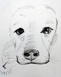 Art Drawing Sketch Out Line Cute Dog ...