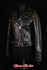 las brando mohawk embossed red indian black cowhide leather motorcycle biker jacket
