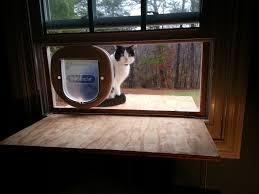 side sliding window cat door doors ideas