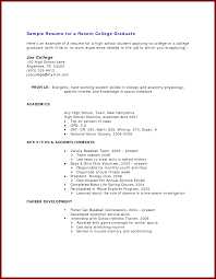 Resume Sample New 19 Resume Samples For College Students With No