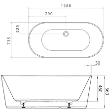 freestanding baths dimensions