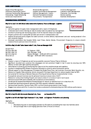 Material Management Resume Sample Material Program Manager Safety