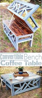 outdoor diy projects outdoor convertible bench and coffee table easy diy outdoor wood projects