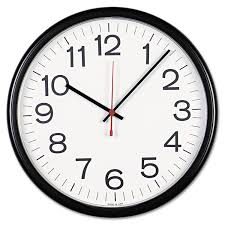 universal indoor outdoor clock 13 1 2 black