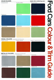 Ford Falcon Colour Chart 64 Curious Ford Blue Paint Chart