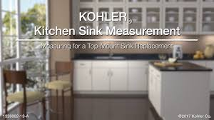 measuring for a top mount sink replacement