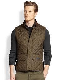 Lightweight Quilted Jacket Men   Jackets Review & Belstaff Lightweight Technical Quilted Vest in Green for Men   Lyst Adamdwight.com