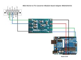 serial port mini rs to ttl converter adaptor module board ttl rs232 pinouts
