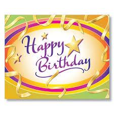 Happy Birthday Business Card Py Vibrant Happy Birthday Card
