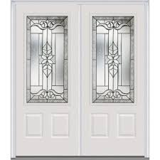 double front door white. Perfect Door MMI Door 72 In X 80 Cadence RightHand Inswing 3 In Double Front White The Home Depot