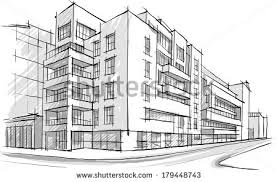 architectural drawings of buildings. Brilliant Buildings Architecture Sketch Drawing Buildingcity Stock Vector 179448743  Throughout Architectural Drawings Of Buildings U