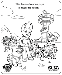 Coloring Pages Paw Patrol Free Happiness Is