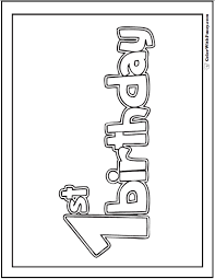 Boxes of different shapes, sizes, with ribbons and pretty colors make every kid's birthday. 55 Birthday Coloring Pages Printable And Customizable