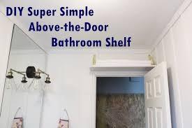 above the door bathroom shelf