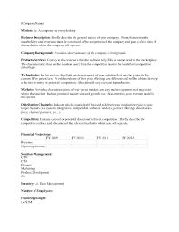 Executive Summary Outline Summary Outline Template