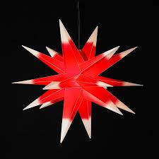 Weihnachtsstern Rot Weiß 18 Zacken ø 50 Cm Faltstern Leuchtstern Außen
