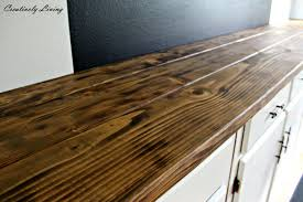 Rustic Bar Top Torched Diy Rustic Wood Counter Top For Under 50 By Creatively