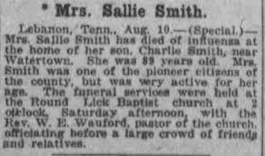 Obituary for Sallie Smith - Newspapers.com