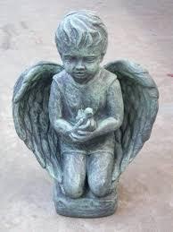 image 0 outdoor bird statues garden cement angel with