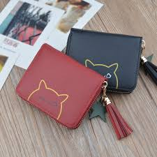 women s mini leather purse tassel money wallets kids little bag for woman lady small size girls