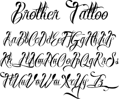 Letters For Tattoos Names Template Mesmerizing Letter Fonts For Tattoo Letter Template