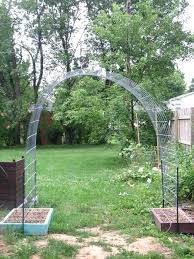 diy garden trellis arch beans on one side and cubers on the other regarding diy garden trellis arch
