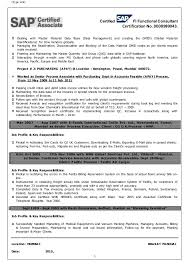 Sap Fico Freshers Resume Format Resume Template Ideas
