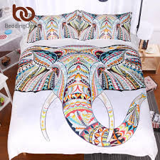 3d elephant bedding set bohemia king duvet cover with pillow case colorful printed indian bed set cover canada 2019 from bluesky11 cad 71 42 dhgate