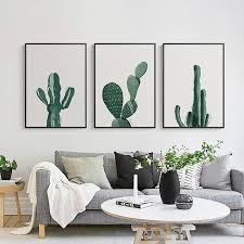 nordic minimalist cactus canvas wall art poster paintings pop art wall pictures for living room home on cactus wall art framed with nordic minimalist cactus canvas wall art poster paintings pop art