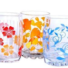 glass multi colour printing on transpa printed silvania drinking size 8 onz