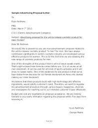 Sample Advertising Proposal Letters Intended For Marketing Letter