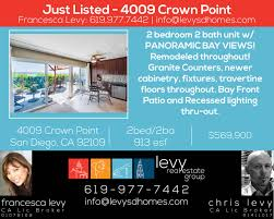 levy san diego homes home for 17 mar just listed 4009 crown point san diego ca 92109