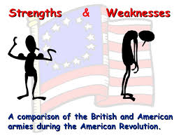 strengths and weaknesses strengths weaknesses amp a comparison of the british and american armies during the american revolution