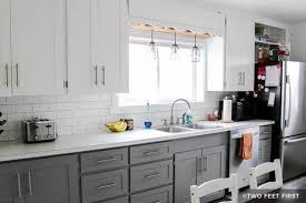 painting kitchen cabinets white before and after pictures. Contemporary White Gray And White Painted Kitchen Cabinets To Painting Kitchen Cabinets White Before And After Pictures P