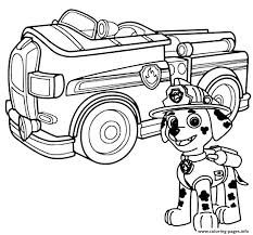 Small Picture Print paw patrol marshal firefighter truck coloring pages paw