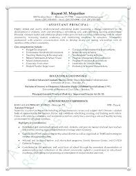 School Administrator Resume Template Assistant School Principal