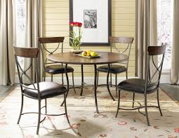 impressive metal dining table set 27 hilale cameron 5pc wood and w x back chairs 4671dtbc2 2