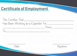 Employee Of The Year Certificate Template Free Free Sample Certificate Of Employment Template Certificate
