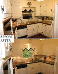 Kitchen Cabinet Laminate Refacing Delectable Kitchen Painting Laminate Cabinets Before And After L