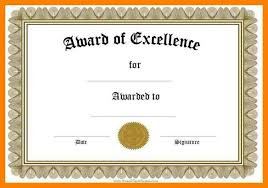 Certificate Of Excellence Template Word Gorgeous Certificate Of Achievement Template Word Linkinpost