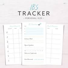 Ibs Tracker Food Diary Food Allergy Diet Tracker Meal Planner Daily Health Planner Symptom Tracker Personal Printable Inserts