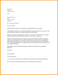 Letters Of Complaints Samples Adjustment Letter Template Business Letter Format