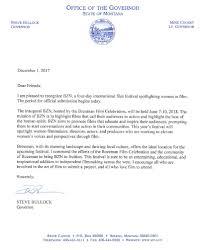 Celebration Letter Governor Bozeman Film Celebration Letter Of Support Bozeman Film 8