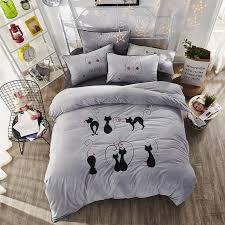 elegant embroidery bedding set super soft fleece fabric duvet cover flat sheet pillowcase comforter bed set queen king size comforter sets white