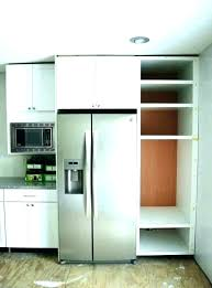 gap between fridge and cabinets space top of refrigerator cabinet above counter minimum c