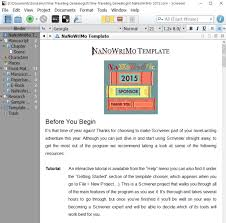 NaNoWriMo Novel Template for Scrivener.
