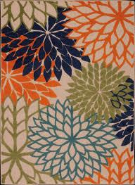 nourison aloha multicolor area rug 3 6 x5 6 contemporary outdoor rugs by carpet queen